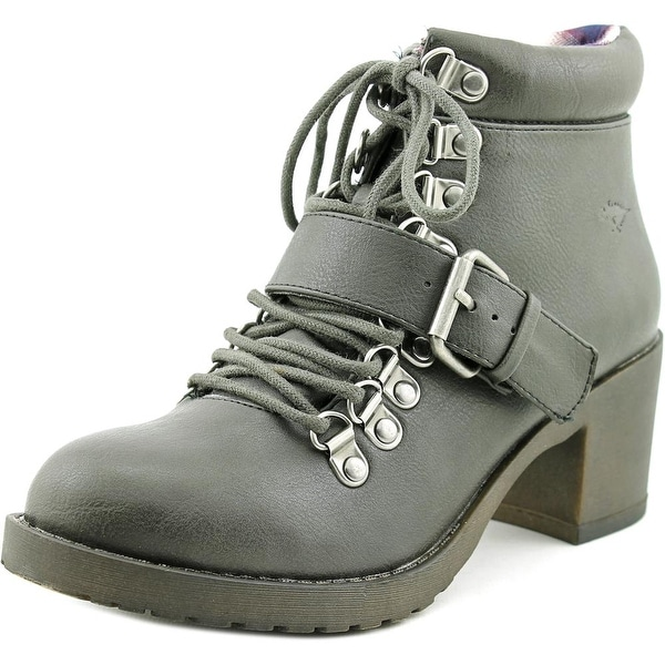 Rocket Dog Howie Spartan Women Round Toe Synthetic Gray Ankle Boot