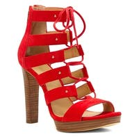 MICHAEL Michael Kors Womens Sofia Leather Open Toe Special Occasion Strappy S...
