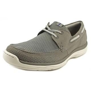 Clarks Marus Edge Men Moc Toe Synthetic Boat Shoe