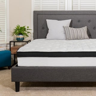 "Link to 12"" Hybrid Memory Foam and Pocket Spring Mattress, Mattress in a Box - White Similar Items in Bedroom Furniture"