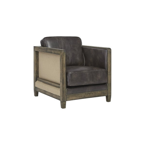 "Copeland Casual Brown Accent Chair - 27""W x 30""D x 33""H. Opens flyout."