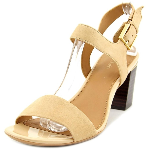 Calvin Klein Cimi Women Open Toe Leather Sandals