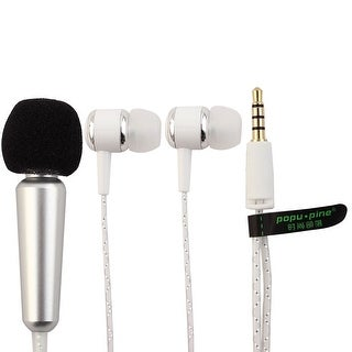 Handheld Portable Wired Two Way Mini Microphone Headset Siliver Tone for Phone