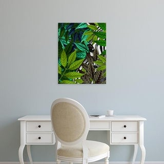 Easy Art Prints Fab Funky's 'Zebra in Green Leaves' Premium Canvas Art