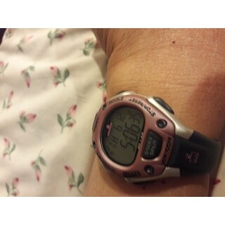 Timex Women's T5K020 Ironman Classic 30 Mid-Size Gray/Lilac Resin Strap Watch - grey
