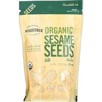 Woodstock Organic Sesame Seeds - Hulled - Case of 8 - 12 oz.