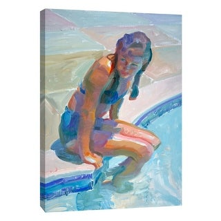 """PTM Images 9-105156  PTM Canvas Collection 10"""" x 8"""" - """"Cool Reflection"""" Giclee Women Art Print on Canvas"""