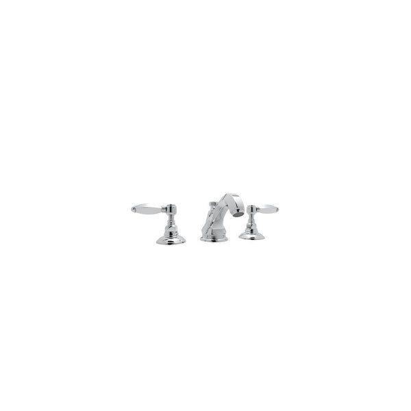 Rohl A1808LH 2 Country Bath Widespread Bathroom Faucet With Hex Metal Lever  Handles And Pop