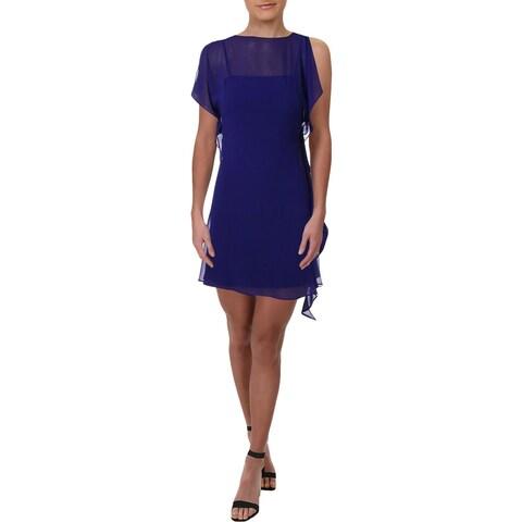 Lauren Ralph Lauren Womens Party Dress Sheer Split Sleeve