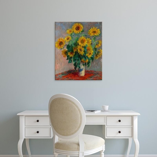 Easy Art Prints Claude Monet's 'Bouquet of Sunflowers' Premium Canvas Art