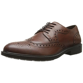 Hush Puppies Mens Issac Banker Leather Brogue Wingtip Shoes