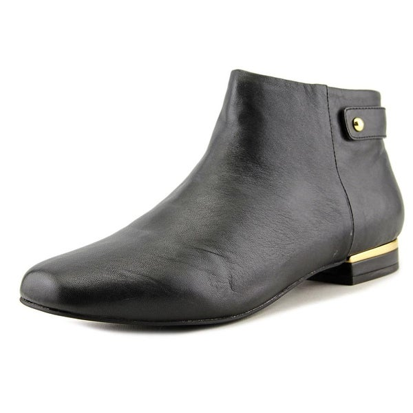 Seychelles Fauna Women Round Toe Leather Black Ankle Boot