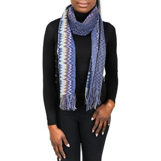 Missoni SC31WMU5171 0002 Blue/Purple Wool Blend Womens Scarf