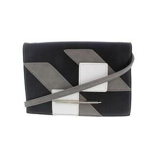 Danielle Nicole Womens Margo Crossbody Handbag Faux Leather Patchwork - small