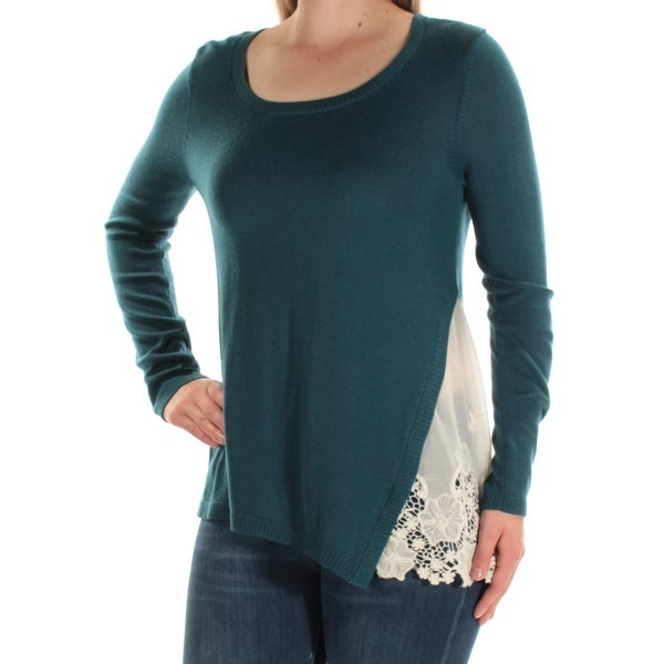 dad75eb1d07 Shop KENSIE Womens Blue Long Sleeve Jewel Neck Top Size: M - On Sale - Free  Shipping On Orders Over $45 - Overstock - 22428359