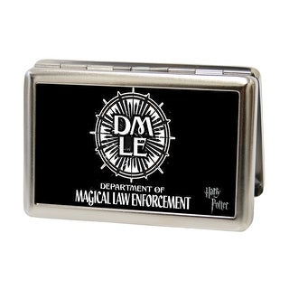 Dmle Department Of Magical Law Enforcement Fcg Black White Business Card Business Card Holder