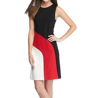 MICHAEL Michael Kors NEW Red Womens Size XL Colorblock Sheath Dress