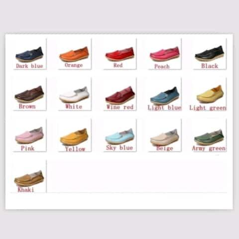 Fashion New Women Casual Shoes Genuine Leather Shoes Flats Doug Shoes Soft