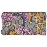 Gucci Women's 452355 GG Supreme Bengal Tiger Zip Around Wallet Clutch - 7.5 x 4 inches