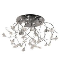 "Bazz Lighting C13509 Glam 9 Light 19-3/4"" Wide Semi-Flush Ceiling Fixture with C"