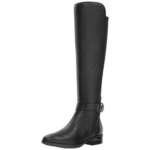 Vince Camuto Womens Pordalia Leather Closed Toe Mid-Calf Fashion Boots