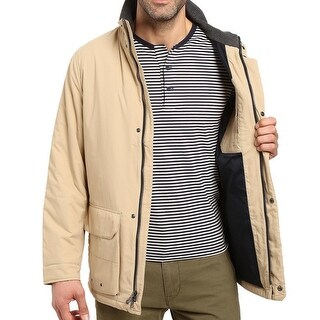 Nautica NEW Solid Sandy Bar Beige Mens Size XL Windbreaker Jacket