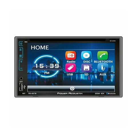 Power Acoustik 2-DIN DVD CD/MP3 Car Stereo with Bluetooth 4.0 - PD627B