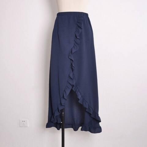 The New Flounce Tie Half Dress Sexy High Cross Resort Beach Skirt