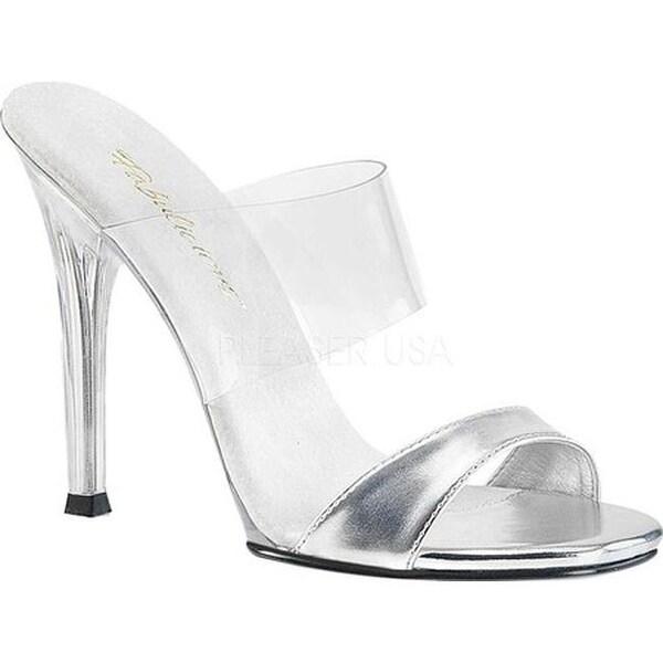 c96c1099d00c41 Shop Fabulicious Women s Gala 02L Slide Silver Metallic PU Clear PVC ...