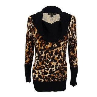Thalia Sodi Women's Animal Print Cowl Neck Sweater - iconic cheetah - xs