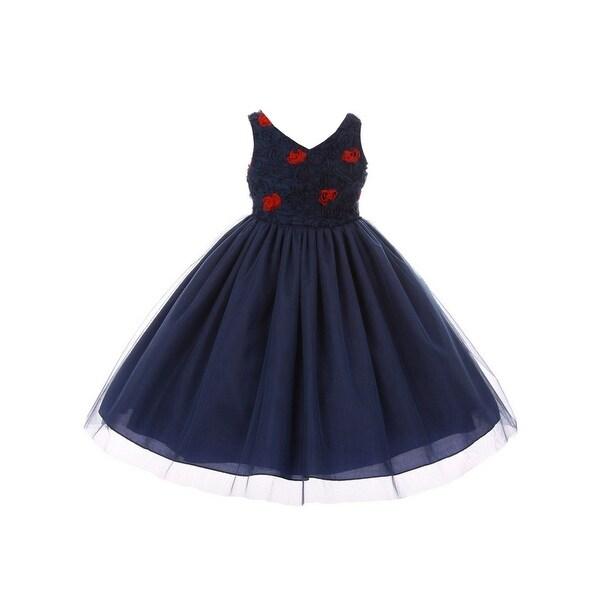 79f6e4dda1d6 Shop Little Girls Ivory Lace Sequin Crystal Tulle Tea Length Flower ...