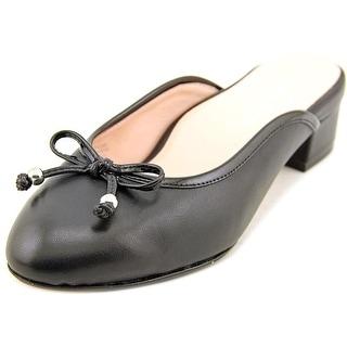 Taryn Rose Faigel Round Toe Leather Mules