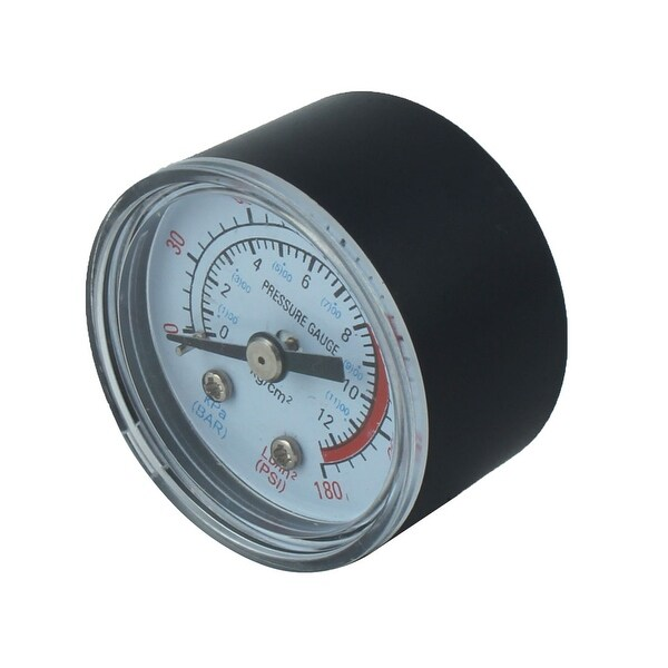 1/8BSP Thread 0-170 PSI Black Plastic Shell Air Pressure Dial Gauge