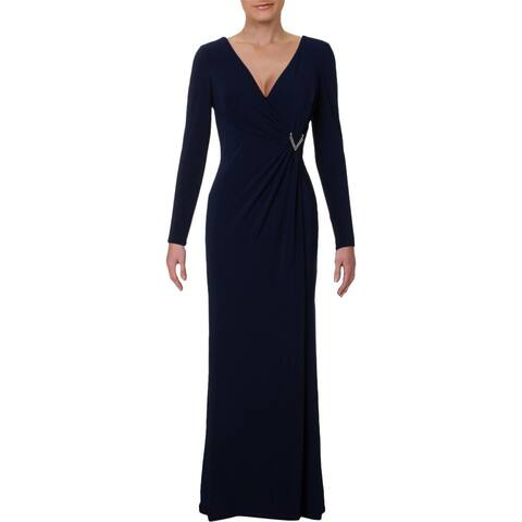 c7c2fabf389 Lauren Ralph Lauren Womens Jillie Evening Dress Embellished Full-Length