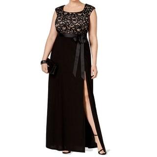 R&M Richards NEW Black Women's Size 16W Plus Empire Waist Dress