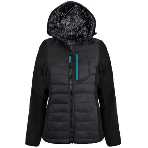 Victory Outfitters Ladies' Black Quilted Equestrian Jacket with Hood