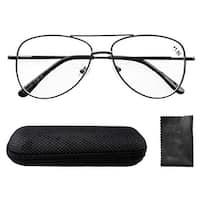 Eyekepper Spring Hinges Polycarbonate Lens Aviator BiFocal Reading Glasses +1.5