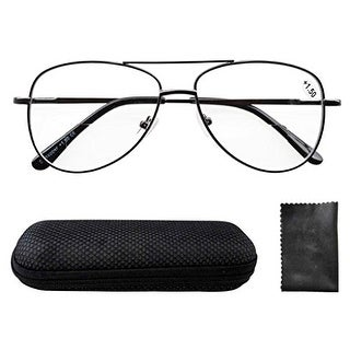 Eyekepper Spring Hinges Polycarbonate Lens Aviator BiFocal Reading Glasses +2.5