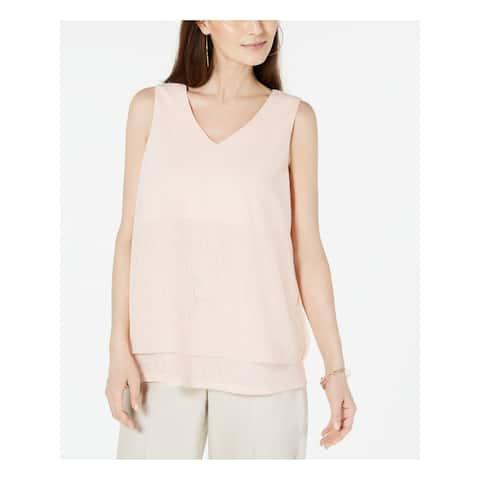 ALFANI Womens Orange Sleeveless V Neck Tank Top Size XL