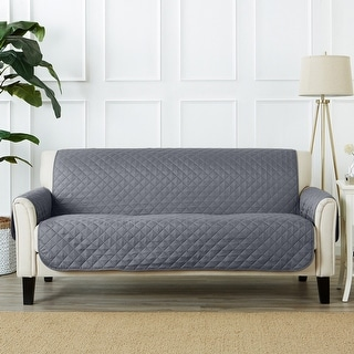 Link to Great Bay Home Reversible Quilted Sofa Furniture Protector Similar Items in Slipcovers & Furniture Covers