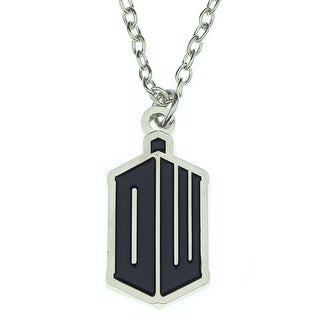 Doctor Who EXCLUSVE DW Tardis Logo Pendant Necklace - Silver