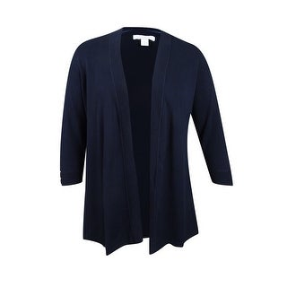 Charter Club Women's Plus Size Open-Front Cardigan