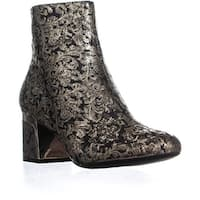 DKNY Corrie Ankle Boots, Brocade Black/Gold - 7 us / 37.5 eu
