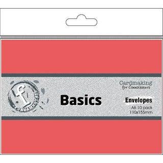 Fundamentals Cardmaking A6 Envelopes 10/Pkg-Candy Red