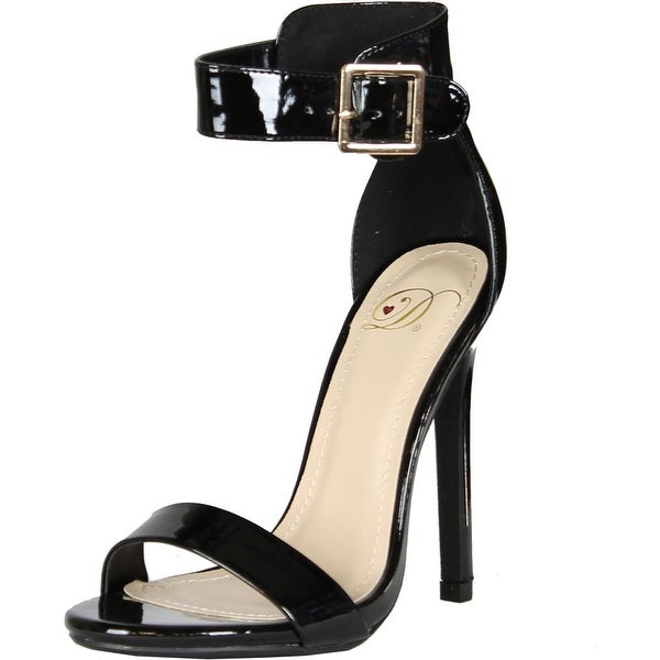 Delicious Womens Canter Classy Dress Open Toe Buckle Ankle Strap Stiletto Heel Sandals
