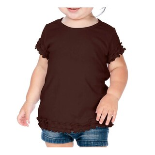 Kavio! Infants Crew Neck Lettuce Edge Short Sleeve