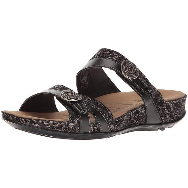 Romika Womens Fidschi 22 Leather Open Toe Casual Slide Sandals
