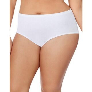 Just My Size Cotton TAGLESS® Brief Panties  5-Pack - Size - 11 - Color - White