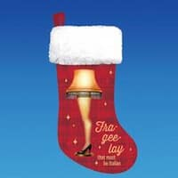 """A Christmas Story Red and White Leg Lamp Printed Christmas Stocking 19"""""""