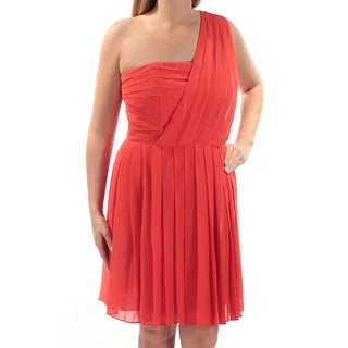 Womens Red Sleeveless Above The Knee Fit + Flare Casual Dress Size: 14